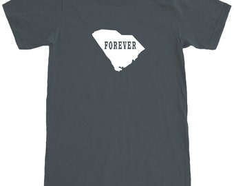 South Carolina Forever T-Shirt Men's Cotton T Shirt Short Sleeve Tee SEEMBO
