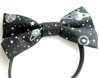 Solar System Elastic Bow Tie / Planets Bow Tie / Science Bow Tie / Planet Headband / Glow In The Dark Bow Tie / Solar System Bow Tie /Boy's