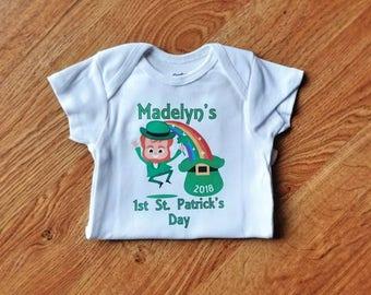 Baby's First St Patrick's Day Onesie | St Patrick's Day Shirt | Personalized St Patrick's Day Shirt | First St Patrick's Day | Baby Onesie