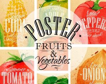 Poster Fruits & Vegetables
