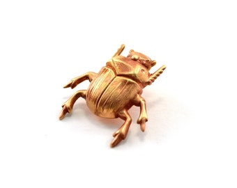 Beetle Pin, Scarab Pin, Tie Pin, Lapel Pin, Tie Tack, Tiny Bug, Insect Pin, Beetle Brooch, Gold Beetle