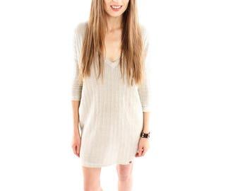 Hemp Tunic, Woman, Organic Fashion, Handmade, Vegan, 100% Hemp