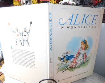 Alice in Wonderland By Lewis Carroll 1986, Illustrated By Maraja, Vintage Children's Book, :)s*
