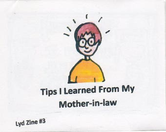 Lyd Zine #3 Tips I Learned From My Mother-in-law