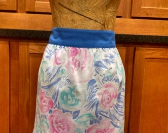 Vintage style hand-made colorful half apron