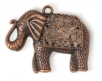 Copper Elephant Pendant (STEAM118)