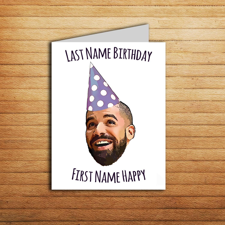 Drake Birthday Card For Boyfriend Printable Funny Birthday