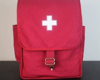 Izola Apothecary Backpack Red