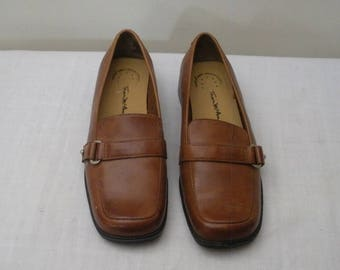 Vintage Thom McCan Tan Square Toe Loafers