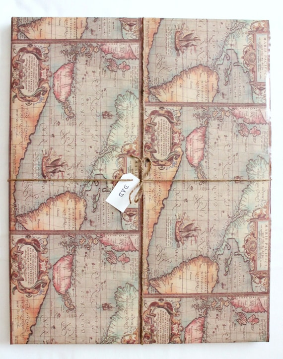 Old world map wrapping paper 2x10 ft masculine gifts like this item gumiabroncs Image collections