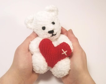 Little Valentine's Teddy Bear Knitting Pattern