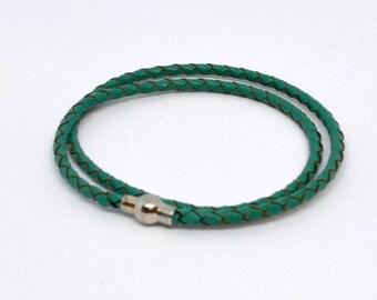 Fake Bracelet leather Green water