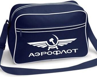 Aeroflot Airlines Vintage Retro Russia CCCP USSR Soviet Retro Shoulder Messenger Bag