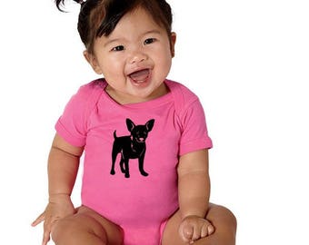 Chihuahua Baby Gift, Cotton Baby Shirt, Onepiece Baby Bodysuit, Dog Lover, Gift For Baby Girl, Gift For Baby Boy, Printed Infant Clothing