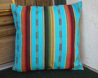 Southwestern Pillow Cover 18 x 18, custom sizes available.  Woven serape design