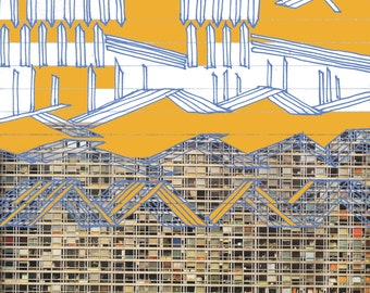 Paris Flats - giclee print of original collage
