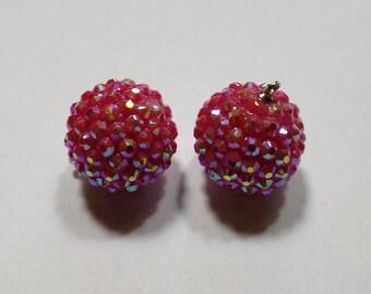 Raspberry Sparkle - Rhinestone Berry Drops - 20mm