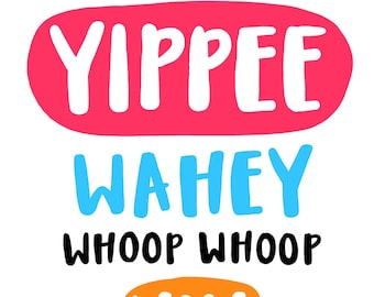 Funny typographic lettering card.