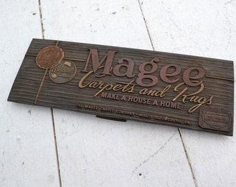 1940s Magee Carpets and Rugs Advertising Sign