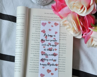 Colleen Hoover bookmark, bookmark, quote, quote bookmark, It Ends With Us, November 9, book quote bookmark, literary bookmark, literary gift