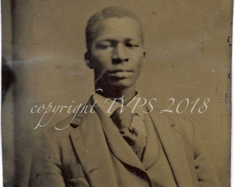 African American Tintype photograph Dapper Man
