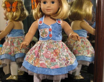 Lovely Two Piece Spring/Summer Outfit for 18 inch Dolls Like American Girl