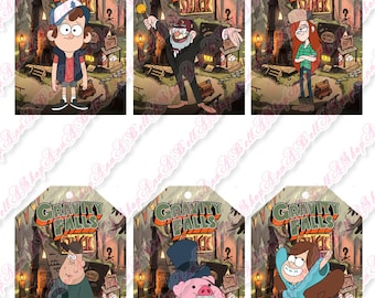 80% OFF SALE Gravity Falls tags, tags, mabel, dipper, stan, wendy, stanford, mystery shack, journal 3, Bill Cipher