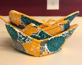 Microwave Bowl Cozy, Bowl Cozy, Soup Bowl Cozy, Microwavable Bowl Cozy, Ice Cream Cozy, Housewarming Gift, Eco Friendly Gift, Kitchen Decor