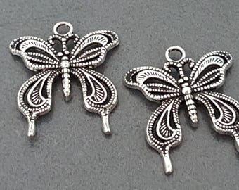 Butterfly pendant, vintage butterfly, butterfly charm, butterfly pendant charm 22 mm x 4 Butterfly pendant, butterfly jewelry