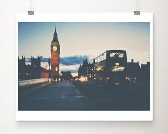 london photograph big ben photograph london bus photograph westminster photograph london print houses of parliament travel photography