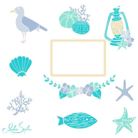 beach wedding clipart nautical wedding invitation clip art sea rh etsy com Horseshoe Wedding Clip Art Wedding Veil Clip Art