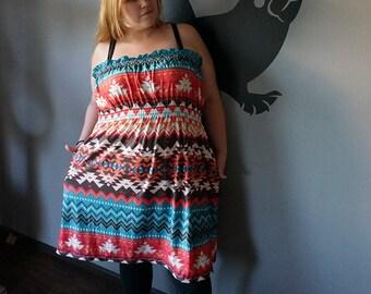 Strapless Aztec Dress. XXL 3X 4X