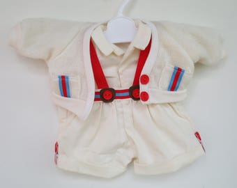 Original My Child Doll Cream Cardigan Sweater Outfit for Boys, Complete! by Mattel 1985