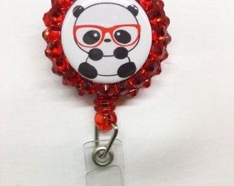 Nerdy Panda Badge Holder Badge Reel