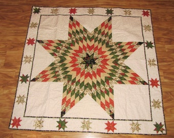 Christmas Lone Star Quilt