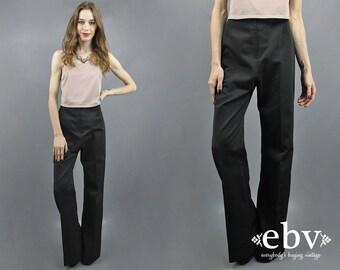 Black Pants High Waisted Pants High Rise Pants High Waist Pants Wide Leg Pants Supermodel Pants Extra Tall Pants Dress Pants Date Night S