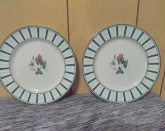 Set of 2 Discontinued Casual Images By Lenox Summer Terrace Dessert/Salad Plates