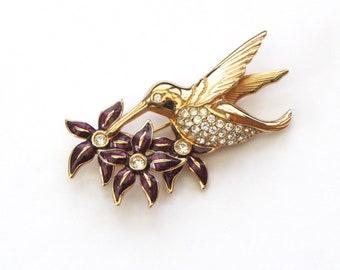 Hummingbird Brooch | Swarovski Pin | Bird Pin | Hummingbird Jewelry | Bird Gifts | Swarovski Brooch | Hummingbird Gift | Bird Brooch