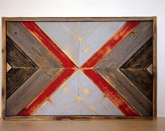 Reclaimed Barnwood Art, rustic, southern charm, geometric