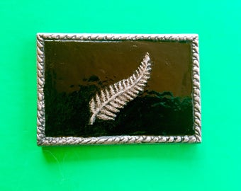 Fossilised Style Silver Fern Wall Hanging /Paperweight by CustomMadeCastings