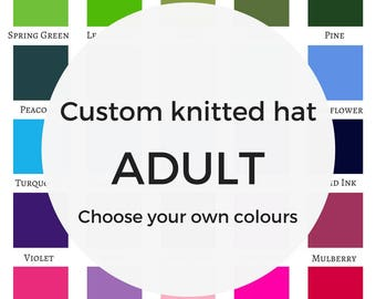 Custom knitted hat personalised gift mothers day mother's day new mother, design your own hat, gift for boyfriend, gift for girlfriend,