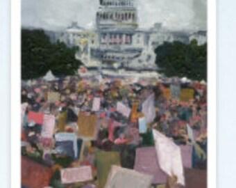 Women's March Postcards