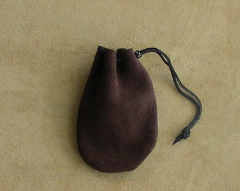 Leather Drawstring Bag, Suede Leather Pouch, Suede Drawstring Pouch, Marble Pouch
