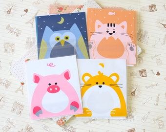 Lovely Animals cellophane cookie bags sweets bags