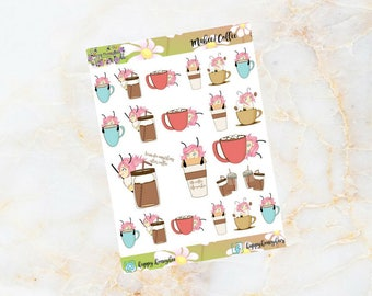 Mabee : Coffee - Handdrawn stickers for your planners, journals etc.