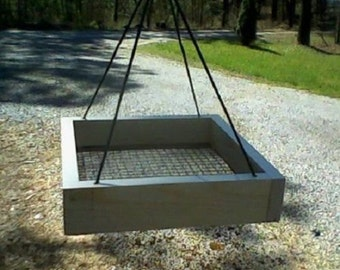 Bird Feeder   Hanging Tray Feeder Seed Feeder