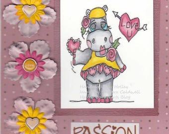 1989 Loving Hippo Digi Stamp