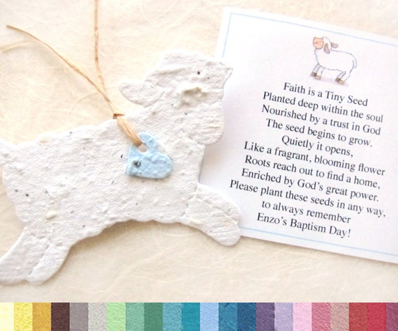 30 baptism favors seed paper lambs plantable lambs 30 baptism favors seed paper lambs plantable lambs flower seed favors christening favors mightylinksfo Choice Image
