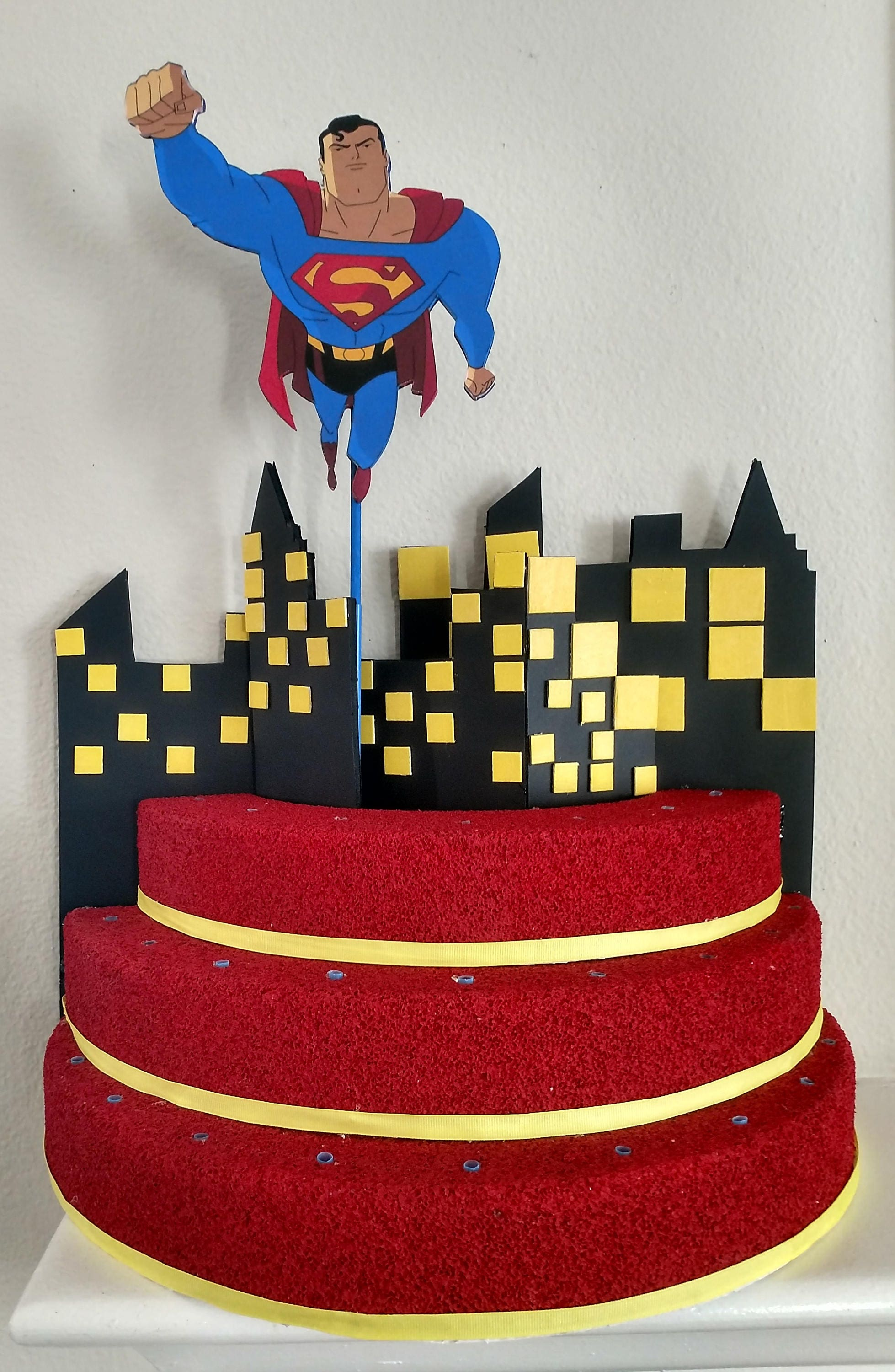 Superman cake pop stand boy birthday superhero birthday zoom jeuxipadfo Image collections