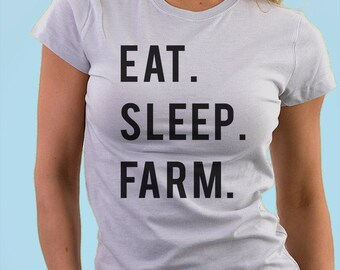 Farmer, Farmer t-shirt, Gifts For Farmers, Eat Sleep Farm - 617